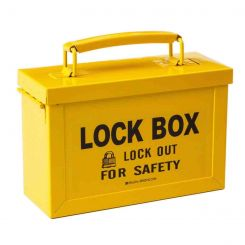 Бокс блокировочный групповой, 230х88х150 мм, цвет желтый