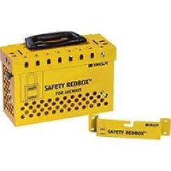 Блокировочный бокс стальной, быстросъемный с кронштейнами для настенного монтажа, желтый
