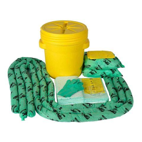 SKH-20 Комплекты для сбора проливов химических реагентов в резервуаре-бочке:12 салфеток, 41 см x 51 см,3 бона SOC, диам. 7.6 см x 366 см, 2 подушки,