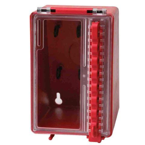 Пластиковый групповой блокировочный бокс с прозрачным окном и креплением на стену