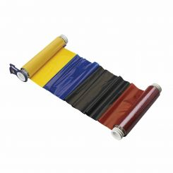 B85-R-158x60-KRBY-200P Риббон 158 мм. Длина панели 200 мм черный-красный-синий-желтый. Длина 60 м. (BBP85/Powermark)