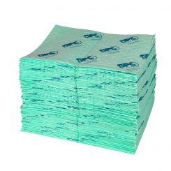 UN100-E Впитывающие салфетки для химических реагентов, 41 см x 51 см, cредней емкости.