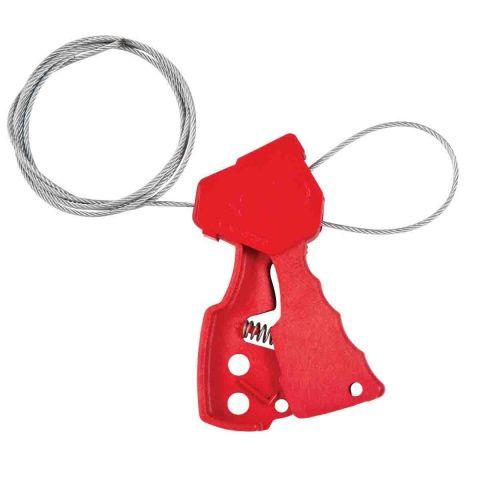 Блокиратор тросовый, красный + 1,8 м корд-шнур