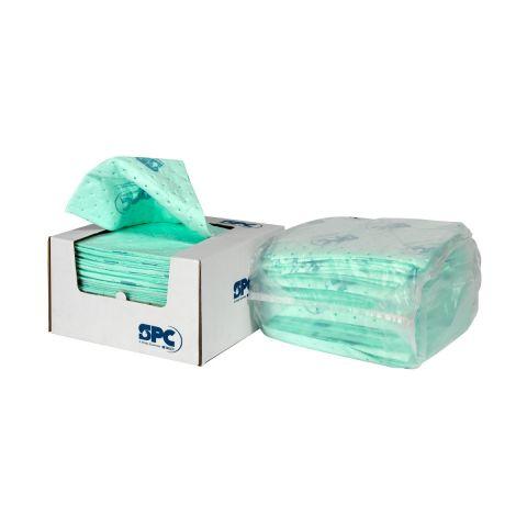 UN1212-E Впитывающие салфетки для химических реагентов, 30 см x 30 см, Средней емкости, нетканые. 50 шт в упаковке, 4 упаковки в боксе