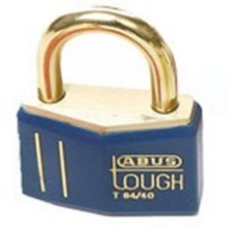 Латунный замок, высота дужки 21,5 мм, диаметр дужки 6.5 мм, синий, 2 ключа, пожаробезопасный (12 шт/упак)