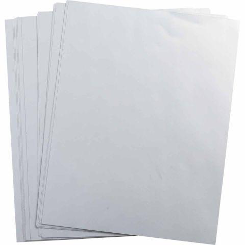 ELAT-28-773 этикетки (Лист А4, серебристый), упак. 10 листов