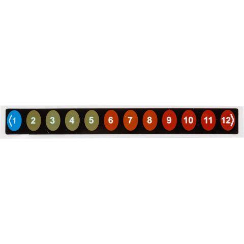 Температурные этикетки обратимые TIL-8-1°C-12°C обратимая этикетка, 12-уровневая индикация температуры от 1 до 12°C (каждый градус), 90 х 10мм, уп.10шт.