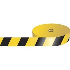 Преграждающая лента, полосатая, черно-желтая, Brady 75 мм*500 м.