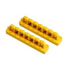 Держатель для блокирующих штанг (7 отверстий для замков), цвет желтый (2 шт/упак.)