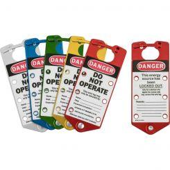 """Алюминиевые замковые множители с этикетками «DANGER DO NOT OPERATE», комплект: 1 красный, 1 серебристый, 1 синий, 1 зеленый, 1 золотистый"""""""