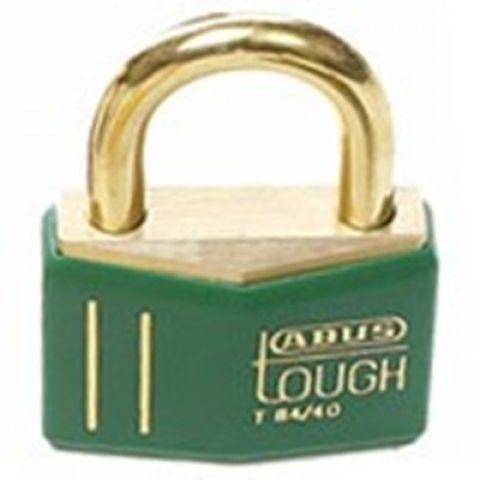 Латунный замок, высота дужки 21,5 мм, диаметр дужки 6.5 мм, зеленый, 2 ключа, пожаробезопасный (12 шт/упак)