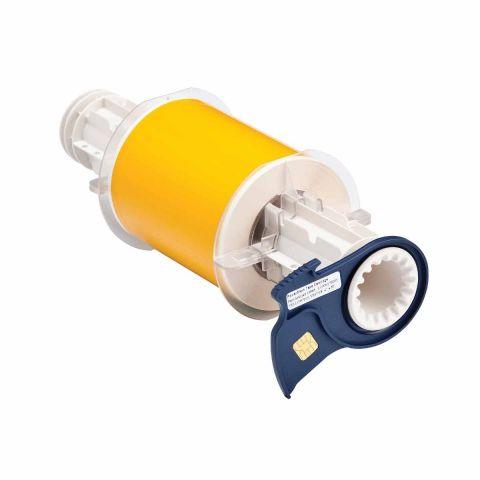 B85-100x15M-569-YL B-569 100 мм. Лента полиэстер высококачественный желтый. Длина 15 м. (BBP85/Powermark)