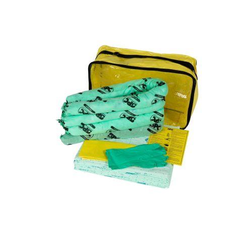 SKH-ADR-S Малый комплект для сбора химикатов: 25 салфеток 41 см x 51 см, 4 бона SOC, диам. 7.6 см x 122 см, 1 мешок для утилизации, 1 пара защитных