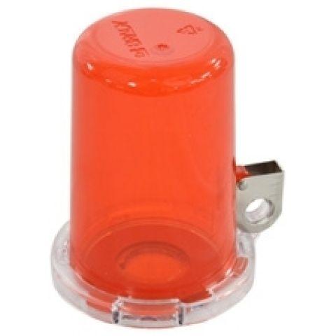 Блокиратор пусковой/аварийной кнопки малый (до 16 мм), красный, 80мм х 64мм х 9мм. (в комплекте три наклейки: прозрачная, желтая, красная)