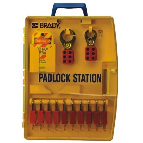 Переносная блокировочная станция (пустая), желтая, 337*108*64 мм.