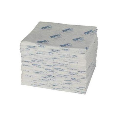 SPC100-E Масловпитывающие салфетки, 41 см x 51 см. Большой емкости, с перфорационной линией, нетканые. Упак 100 шт на 114 л