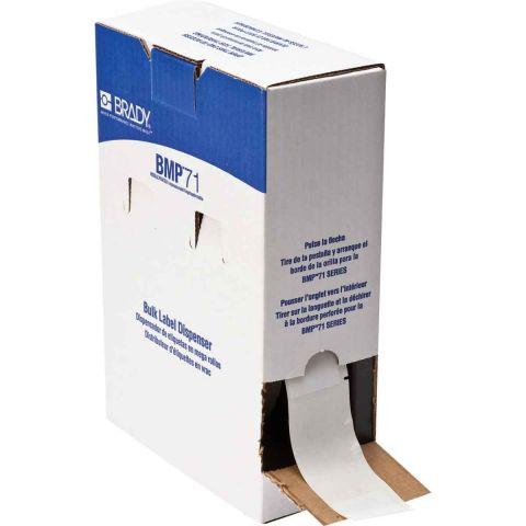 BM71-33-427 этикетки (аналог на TLS/HM BPTL-33-427) Самоламинирующие маркеры 38.1х101.6 поле для надписывания 38.1x25.4. В упаковке 500 шт.