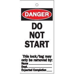 "Бирки предупреждающие: Brady ""Do not start"", 75*160 мм."