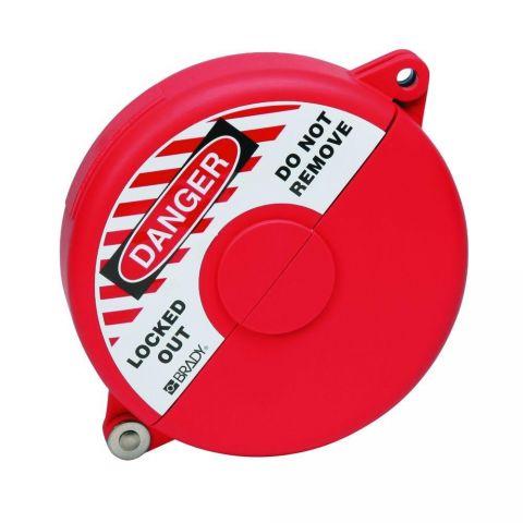 Блокиратор затворных вентилей, раздвижной, красный, диаметр круглого элемента 25-64 мм