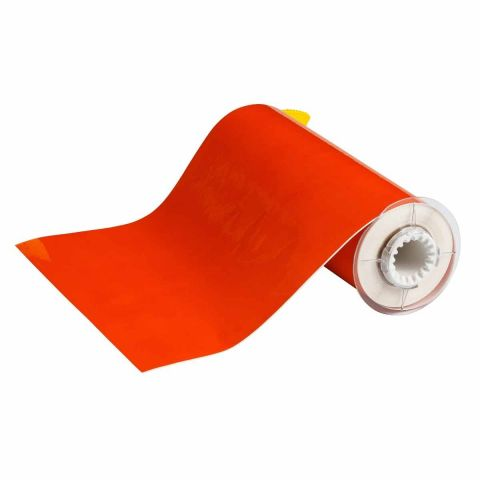 B85-250x15M-569-OR В-569 250 мм. Лента полиэстер высококачественный оранжевый. Длина 15 м. (BBP85/Powermark)