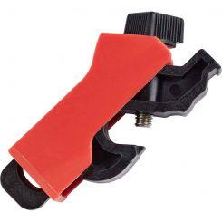 Универсальный блокиратор электроавтоматов, красный, материал - нейлон и нержавеющая сталь, толщина переключателя до - 8.6 мм