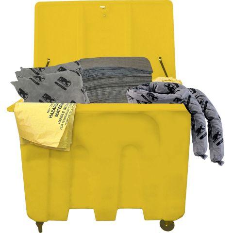 SKA-XLT Комплект на тележке для сбора проливов во время ремонта на 620л:150 салфеток,41x51см,36 бонов SOC, диам.7.6x122см,20 бонов