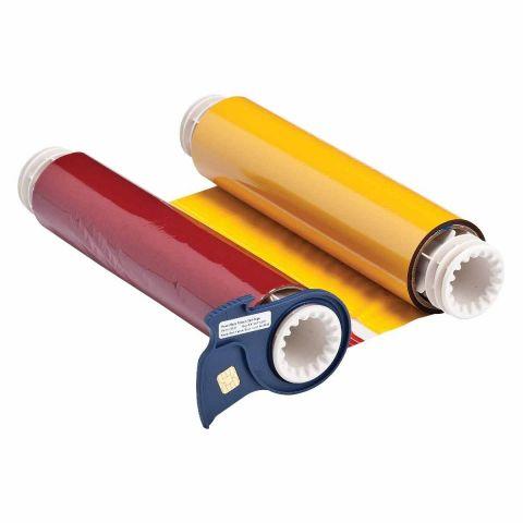 B85-R-220x60-KRBY-380P Риббон 220 мм. Длина панели 380 мм черный-красный-синий-желтый. Длина 60 м. (BBP85/Powermark)