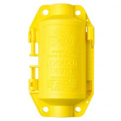 Блокиратор для промышленных штепсельных разъемов. Малый. Желтый.