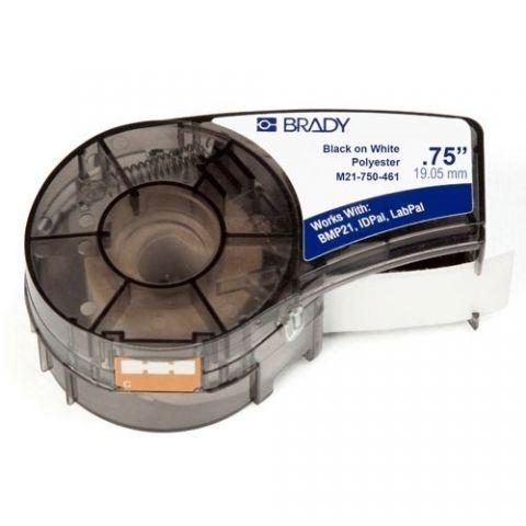Brady M21-750-461 этикетка для пробирок, размер ленты: 19,05 mm х 6,4 m, полиэстер, цвет маркировки: черный на белом