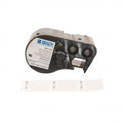 Лента с этикетками для принтера BRADY M-91-427 самоламинуючий винил, для маркировки, черный на белом, картридж 25,4мм * 38,1мм * 12,7мм, 180 шт.