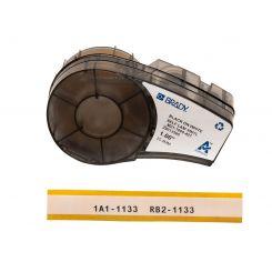 Brady M21-1000-427 самоламинирующиеся этикетки, размер ленты: 25,40 мм х 4,3 м (для провода d 2,7 - 5,1 мм), цвет маркировки: черный на белом