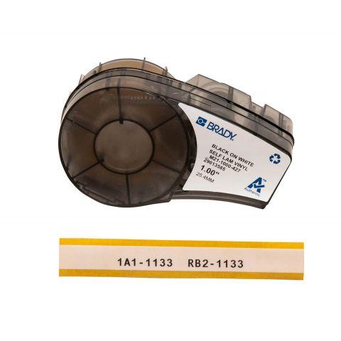 Лента для принтера BRADY M21-1000-427. Самоламинирующиеся этикетки (маркировка кабеля), для провода Ø  2.7 - 5.1 мм. Цвет: черный на белом