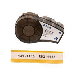Brady M21-1500-427 самоламинирующиеся этикетки, размер ленты: 38,10 мм х 4,30 м (для провода d 4,0-8,1 мм), цвет маркировки: черный на белом