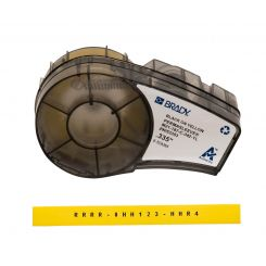 Brady M21-187-C-342-YL термоусадочная трубка, размер ленты: 8,50 мм х 2,10 м (для проводов d 1,57 - 3,81 мм), цвет маркировки: черный на желтом
