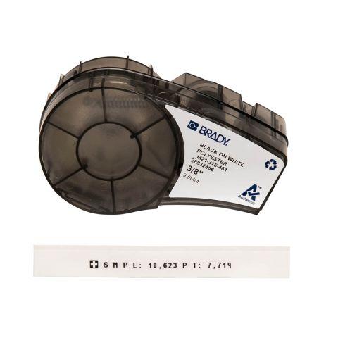 Лента для принтера этикеток BRADY M21-375-461. Самоламинирующиеся этикетки для лабораторных пробирок. Картридж: 9.53mm/6.4m. Цвет: черный на белом