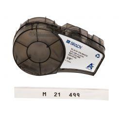 Brady M21-375-499, общая маркировка, маркировка кабеля, размер ленты: 9,53 mm х 4,87 m, нейлон, цвет маркировки: черный на белом