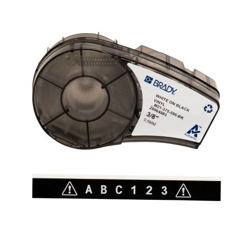 Brady M21-375-595-BK размер ленты: 9,53 мм х 6,4 м винил, цвет маркировки: белый на черном