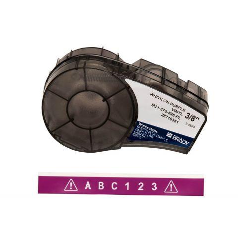 Лента для принтера этикеток BRADY M21-375-595-PL, Цветная маркировка. Картридж: 9.53 mm х 6.4 m. Цвет: белый на фиолетовом.