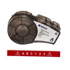 Brady M21-375-595-RD размер ленты: 9,53 mm х 6,4 m, винил, цвет: белый на красном