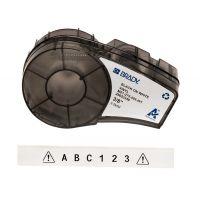 Лента для принтера этикеток BRADY M21-375-595-WT. Цветная маркировка. Картридж: 9.53 mm х 6.4 m. Цвет: черный на белом