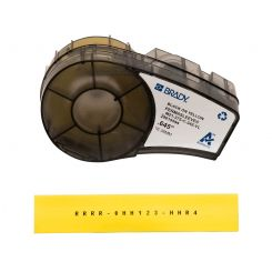 Brady M21-375-C-342-YL термоусадочная трубка, размер ленты: 16,40 мм х 2,10 м (для провода d 3,18 - 8.13 мм), цвет маркировки: черный на желтом