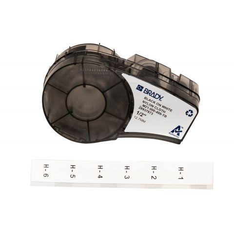 Brady M21-500-499-TB маркировка терминальных блоков, размеры ленты: 12,7 mm х 4,87 m, нейлон, цвет маркировки: черный на белом