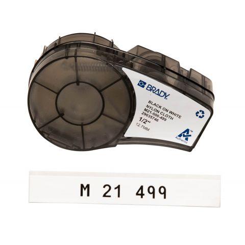 Brady M21-500-499, общая маркировка, маркировка кабеля, размер ленты: 12,7 mm х 4,87 m, цвет маркировки: черный на белом