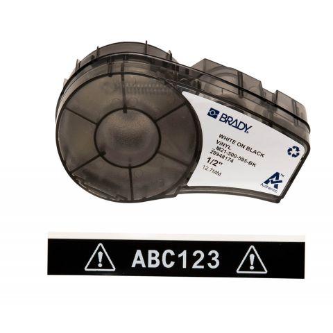 Brady M21-500-595-BK размер ленты: 12,70 мм х 6,4 м, винил, цвет маркировки: белый на черном