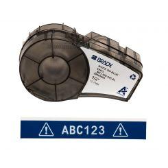 Лента для принтера этикеток BRADY M21-500-595-BL. Цветная маркировка. Картридж: 12.7 mm х 6.4 m. Цвет: белый на синем