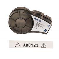 Лента для принтера этикеток BRADY M21-500-595-WT. Цветная маркировка. Картридж: 12.7 mm х 6.4 m. Цвет: черный на белом