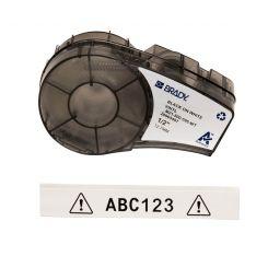 Brady M21-500-595-WT размер ленты: 12,7 mm х 6,4 m, винил, цвет маркировки: черный на белом