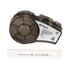 Лента для принтера этикеток BRADY M21-500-7425. Маркировка для лабораторий. Картридж: 12.7 mm х 6.4 m. Цвет: черный на белом