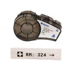 Brady M21-750-430, прозрачная этикетка, размеры ленты: 19,05 mm х 6,4 m, полиэстер, цвет маркировки: черный на прозрачном