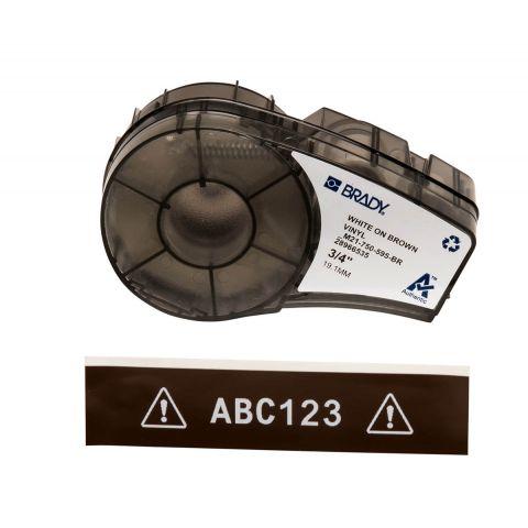 Brady M21-750-595-BR размер ленты: 19,05 мм х 6,4 м, винил, цвет маркировки: белый на коричневом